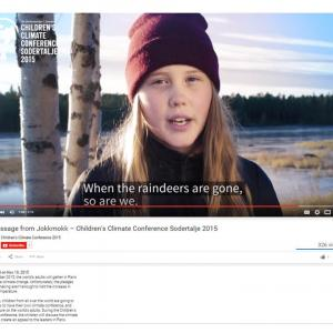 Sami Indigenous Children Educate the world to take care of Nature